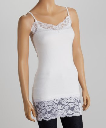 White Lace Adjustable Camisole