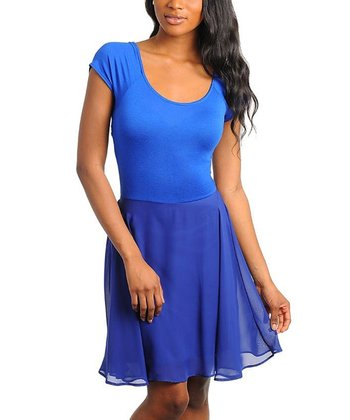 Royal Blue Cutout Dress
