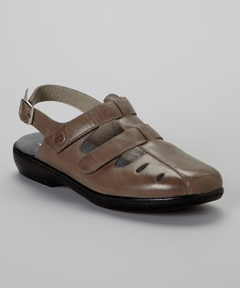 Gray Grenada Leather Sandal - Women