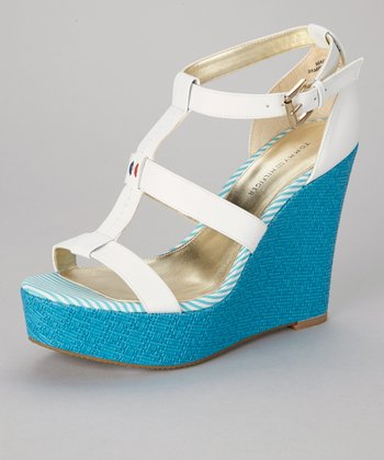 White Adalinay Wedge Sandal