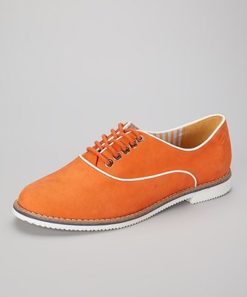 Tangerine & White Bahia Oxford