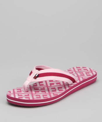 Rose Shadow & Shine Fuchsia Chelcie Flip Flop