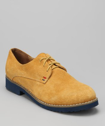 Yellow Mustard Suede Honeybee Oxford
