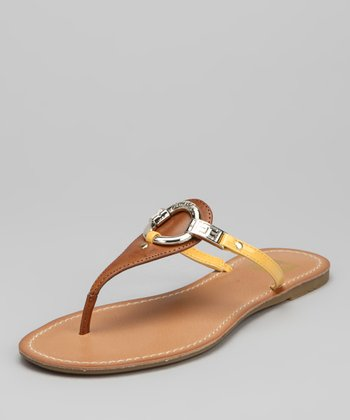 Gold & Luggage Lindsey Flip-Flop