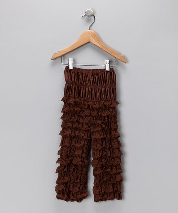 Chocolate Brown Ruffle Pants - Infant & Toddler