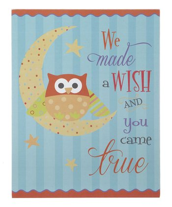 GANZ Sky Blue 'We Made A Wish' Wall Art