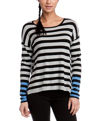 Black Color Block Stripe Sweater