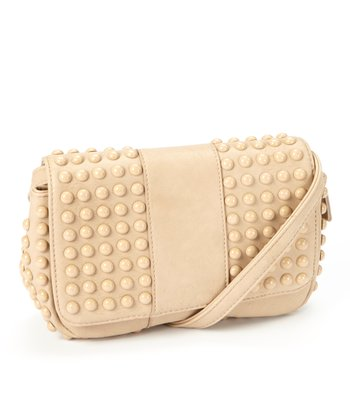 Taupe Studded Crossbody Bag