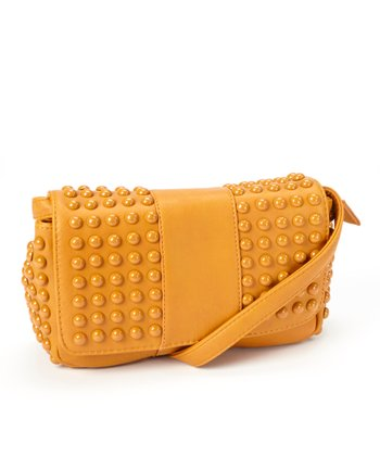 Camel Studded Crossbody Bag