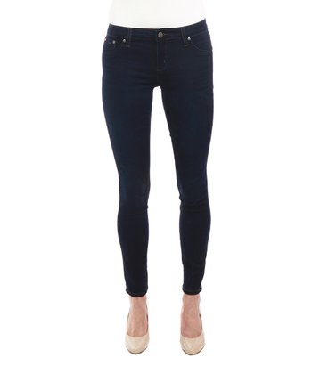 Dark Blue Five-Pocket Jeggings