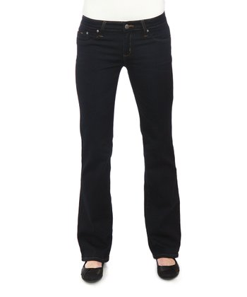 Dark Blue Five-Pocket Bootcut Jeggings