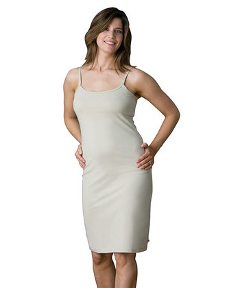 Khaki Nursing Bra Slip Dress