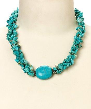 Turquoise Bundled Stone Necklace