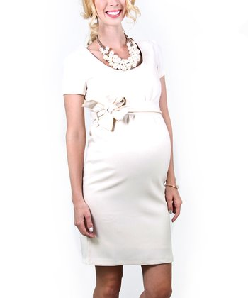 Ecru Balfour Maternity Dress