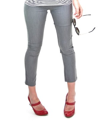 Gray Regatta Under-Belly Maternity Skinny Pants