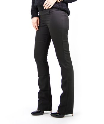 Black Architect Over-Belly Maternity Pants