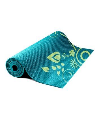 Green Flower Yoga Mat