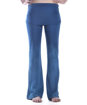 Moroccan Blue Bela Organic Yoga Pants - Women