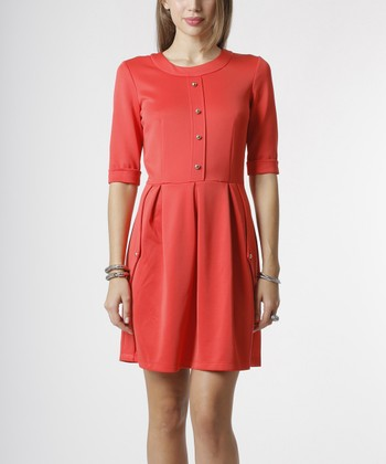 emploi New York Coral Ludlow Dress