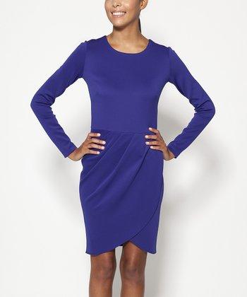 emploi New York Midnight Chrystie Long-Sleeve Dress