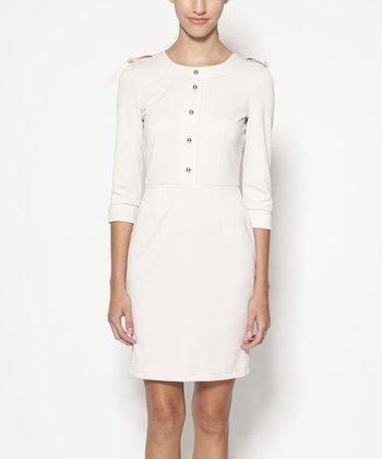 emploi New York Beige Ludlow Sheath Dress