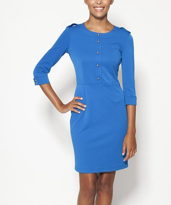 emploi New York Royal Blue Ludlow Sheath Dress