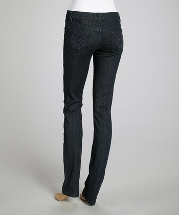 Dark Wash Signature Stitch Skinny Jeans