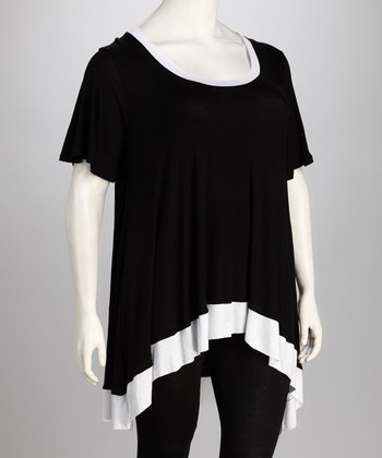 Black & White Desere Sidetail Tunic - Plus