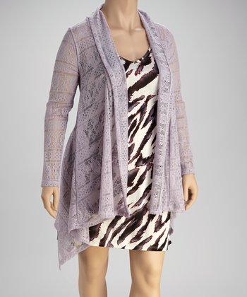 Lavender Jasmin Sheer Duster - Plus