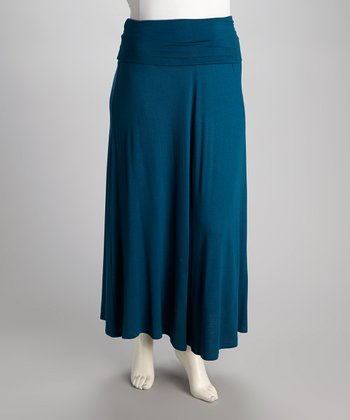 Teal Maxim Maxi Skirt - Plus