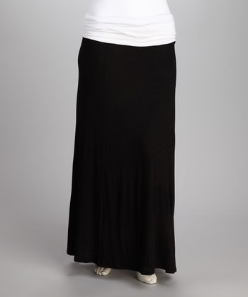 Black Mona Maxi Skirt - Plus