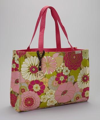Spartina 449 Cream & Pink Camellia Shopper