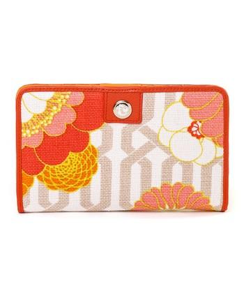 Spartina 449 Orange & Pink Tibi Soli Snap Wallet
