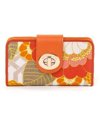 Spartina 449 Orange & Pink Tibi Soli Colorblock Turn-Key Wallet