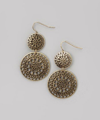 Matte Gold Double Drop Earrings