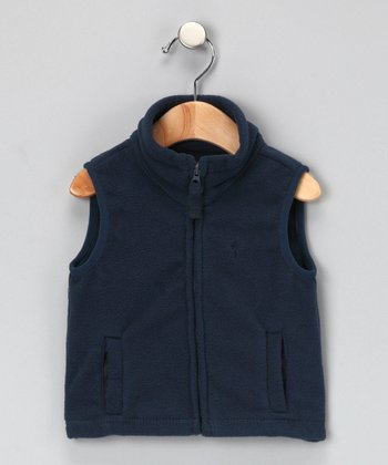 Navy Fleece Vest - Infant & Toddler