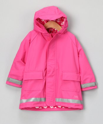 Hot Pink Lined Raincoat - Infant