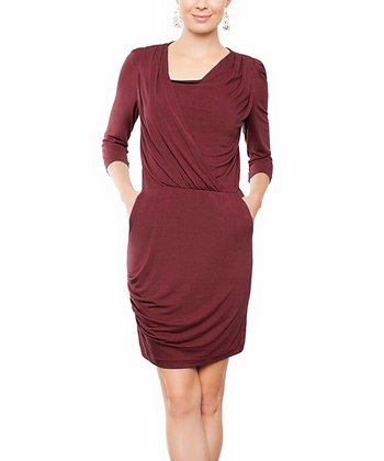 Burgundy Claire Dress