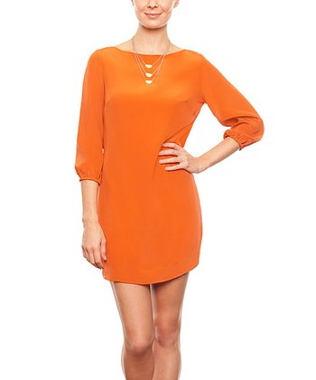 Orange Kim Silk Dress