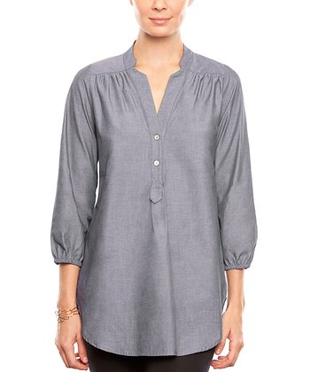 Chambray Amy Organic Button-Up