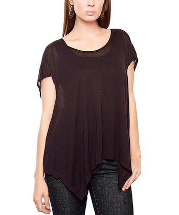 Black Robin Sidetail Top