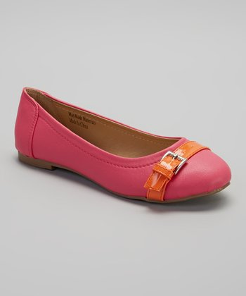 Fuchsia & Orange Buckle Flat