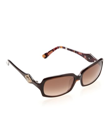 Brown Thin Square Sunglasses