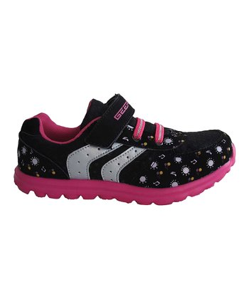 Black & Fuchsia Music Note Sneaker