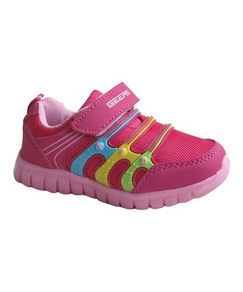 Fuchsia Triple-Band Running Shoe