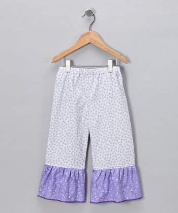 Purple Amelia Ruffle Pants - Infant, Toddler & Girls