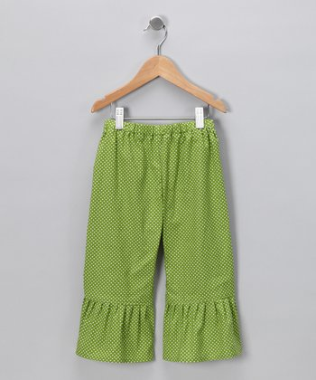 Green Polka Dot Ruffle Pants - Infant & Toddler