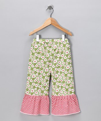 Green Wing It Ruffle Pants - Infant & Toddler