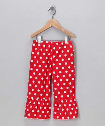 Red Polka Dot Ruffle Pants - Infant, Toddler & Girls