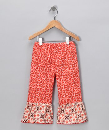 Rust Fandango Ruffle Pants - Infant, Toddler & Girls